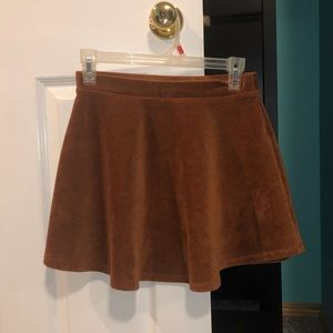 Forever 21 Corduroy Burnt Orange/Brown Skirt